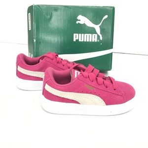 Puma Kids Suede Inf Fuchsia Purple Shoes Size 7c